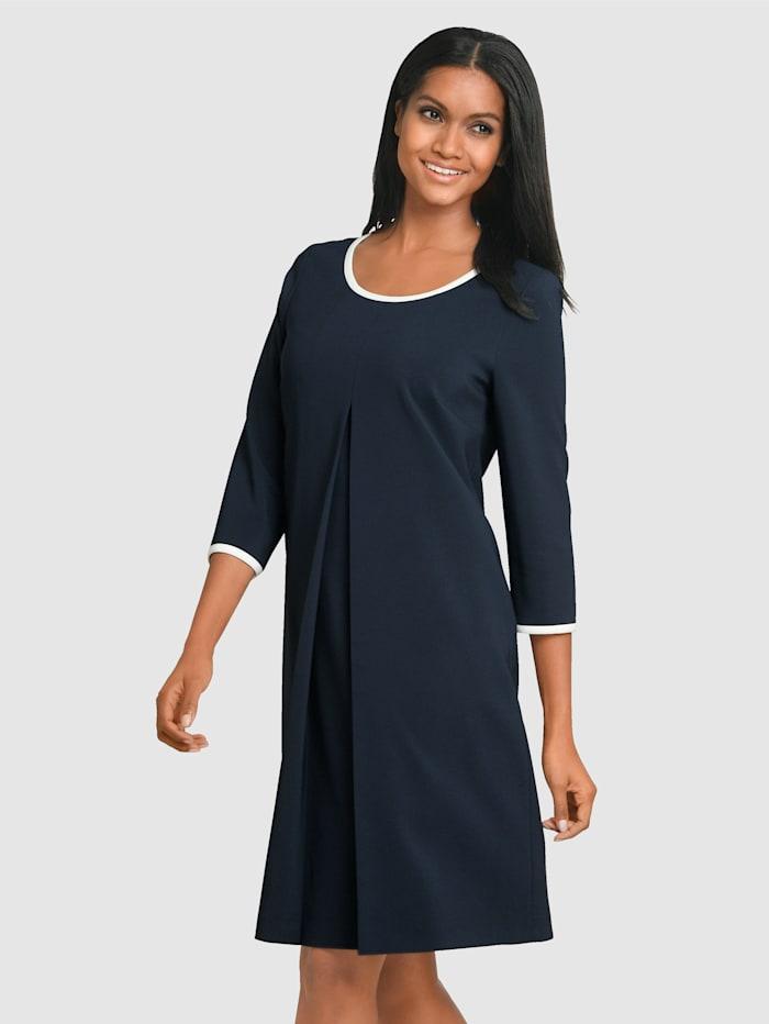 Alba Moda Kleid mit edler Falte im Vorderteil, Marineblau/Weiß