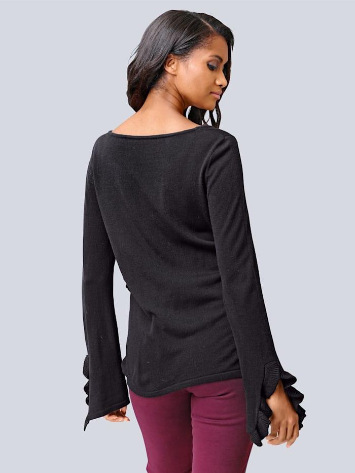Pullover mit modschem Volants