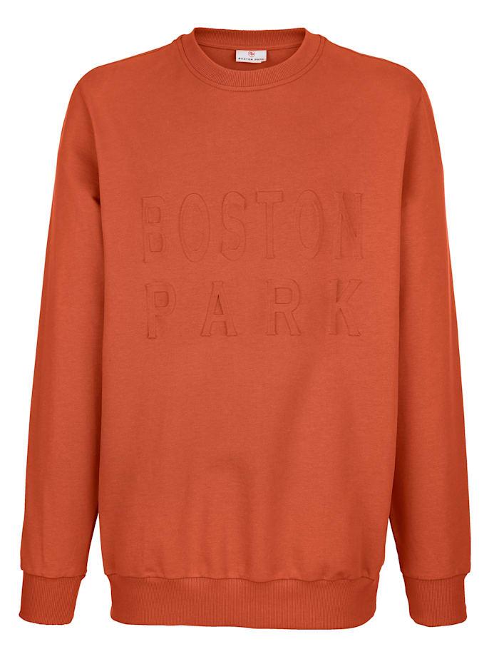 Sweatshirt met reliëfprint voor