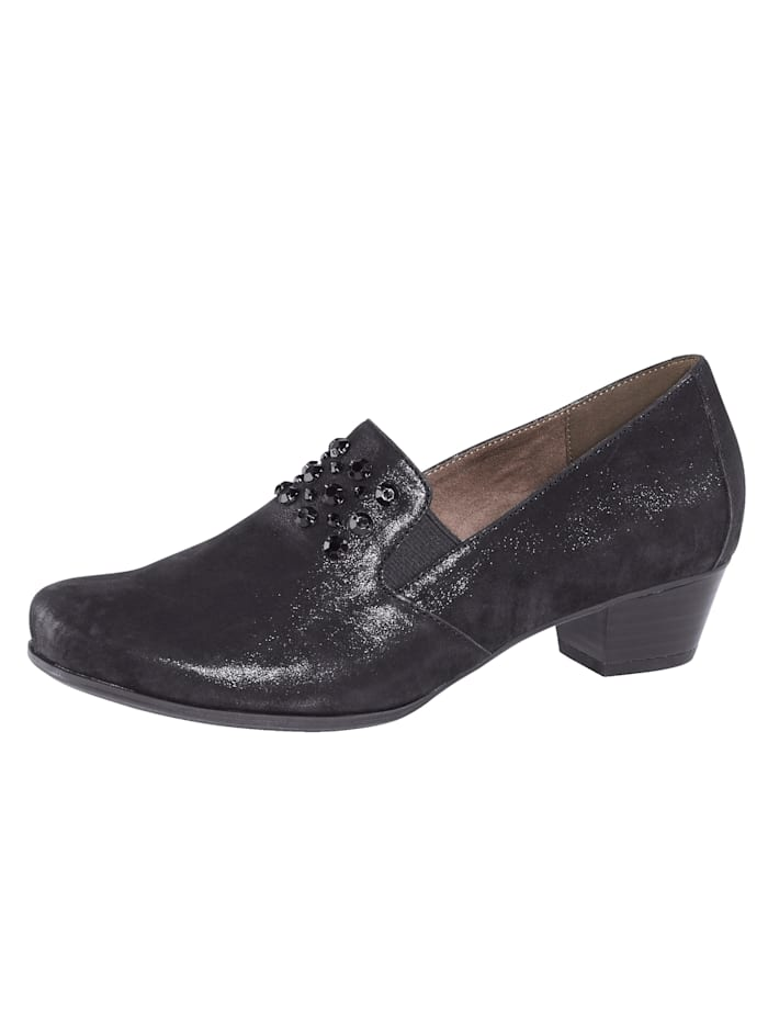 MONA Court shoes with a flexible sole, Black