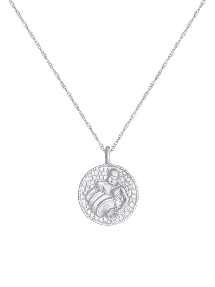 Halskette Sternzeichen Wassermann Münze 925 Silber