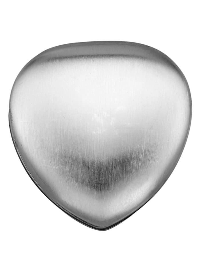 Magnetic Balance Herz-Magnet, Edelstahl, Silberfarben