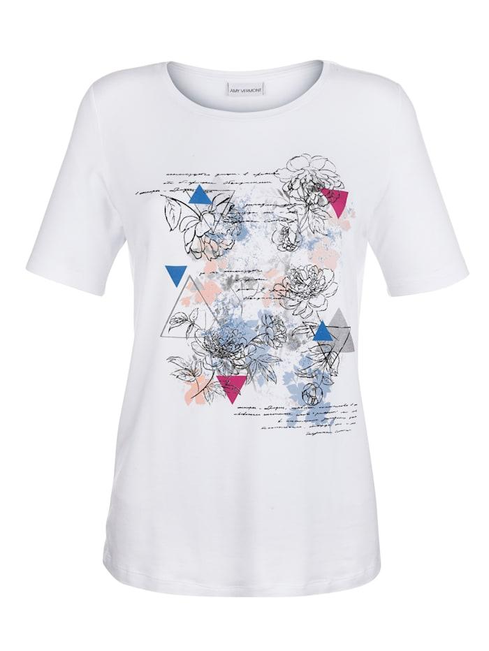 Shirt mit grafischem Druck im Vorderteil