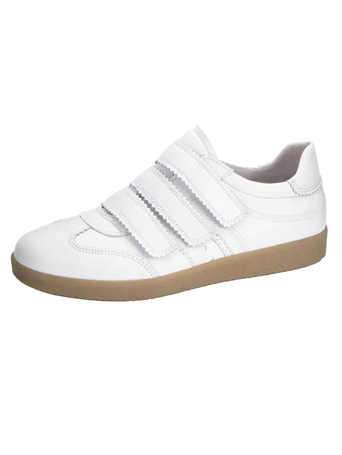 Gabor Sneaker met klittenband op de wreef, Wit