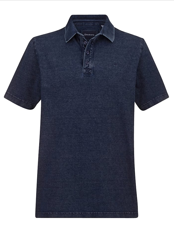 BABISTA Poloshirt in gewaschenem Used-Look, Blau