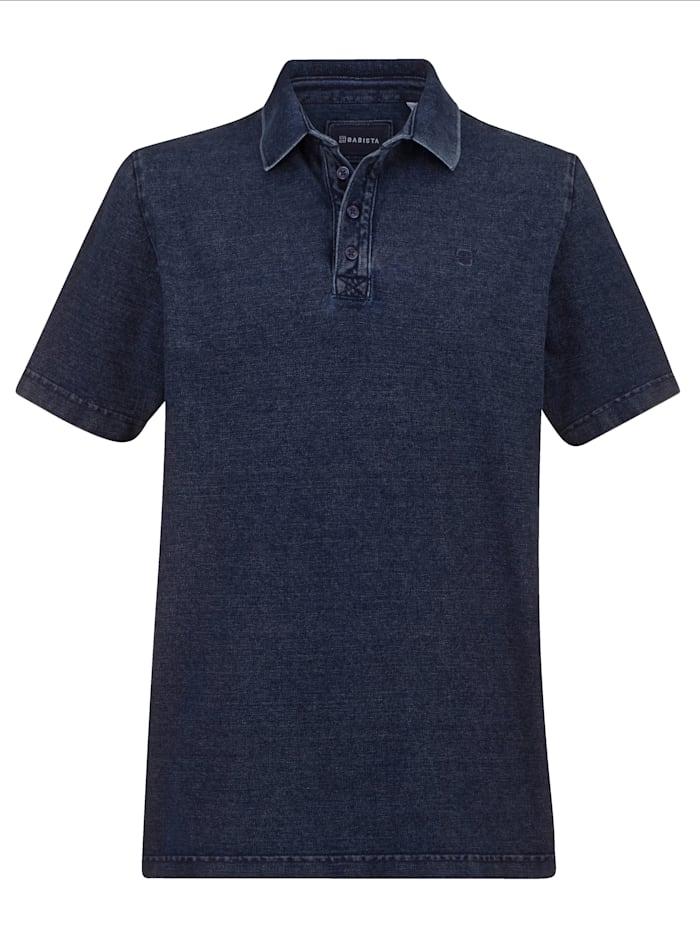 BABISTA Poloshirt in washed used look, Blauw