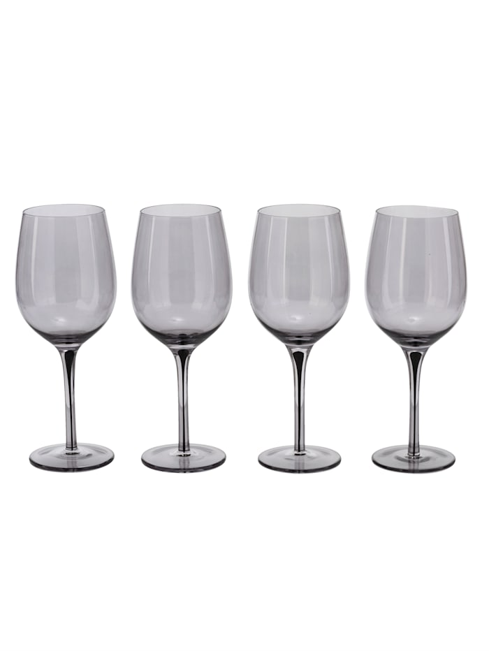 IMPRESSIONEN living Glas-Set, 4-tlg., grau/klar
