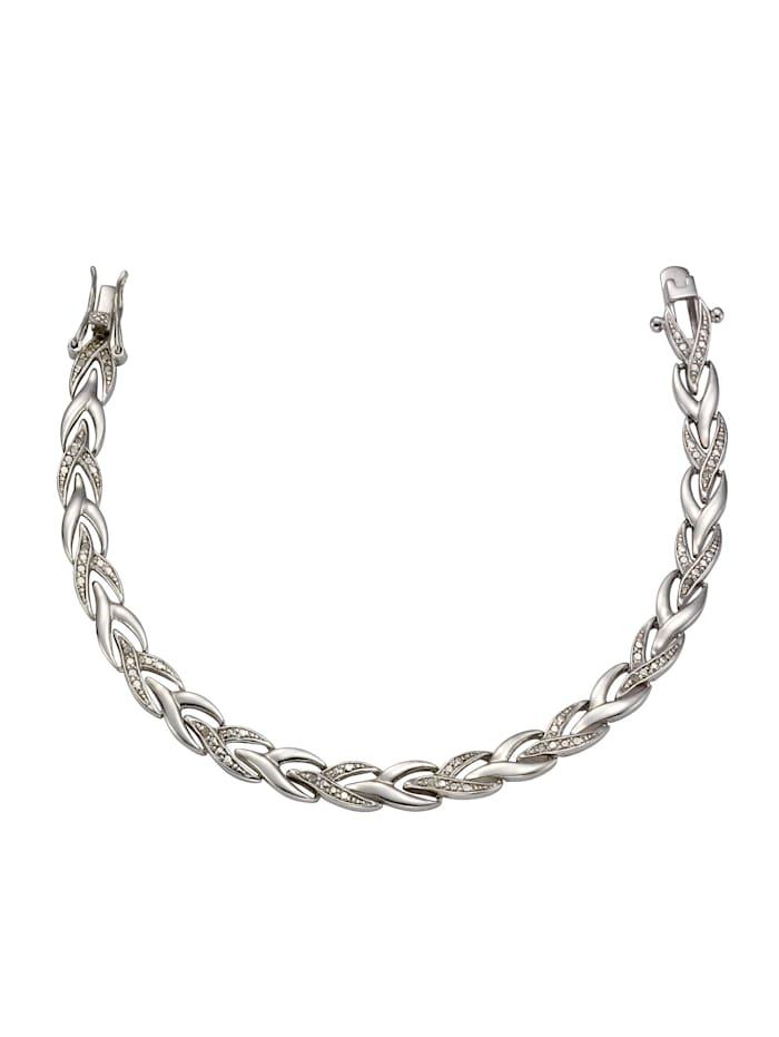 Celesta Armschmuck 925/- Sterling Silber Diamant Diamant 19 Glänzend 0,13, Silbergrau