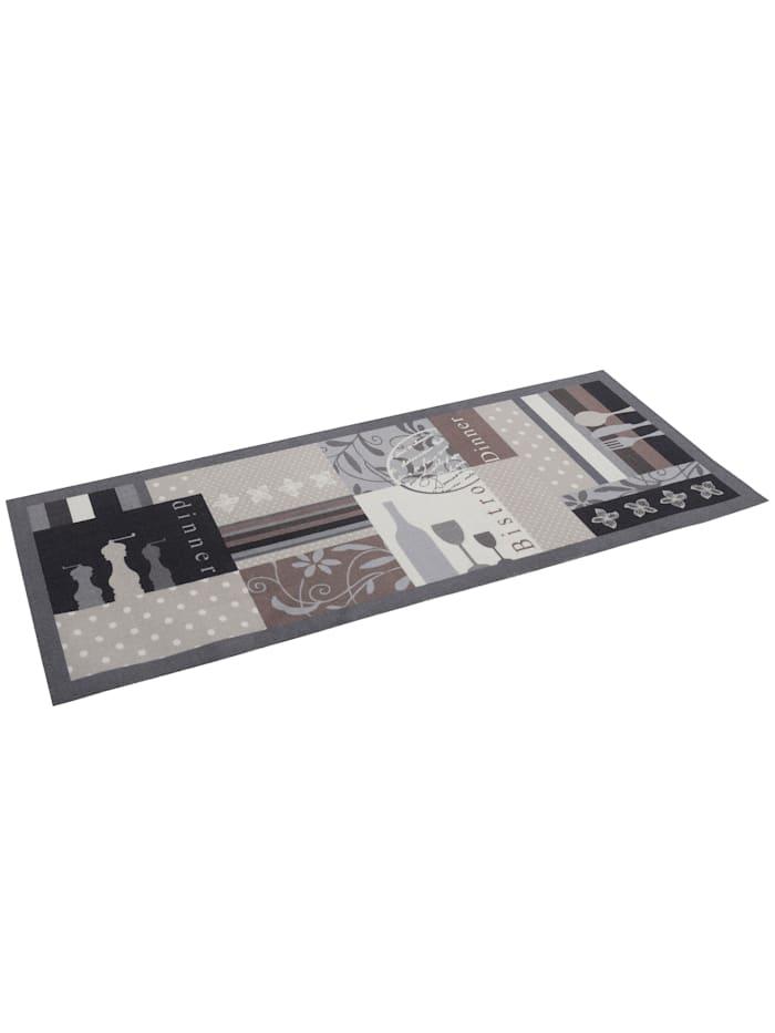 Pergamon Küchenläufer Teppich Trendy Bistro Beige Braun, Braun