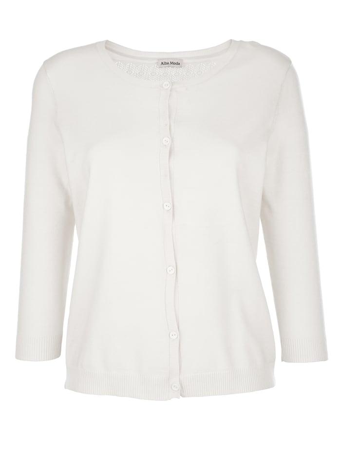 Alba Moda Vest met chic kant, Offwhite