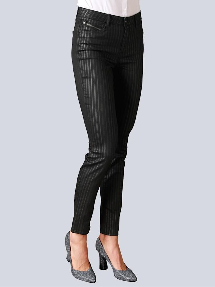 BRAX Jeans 'Shakira' im Streifendessin, Schwarz