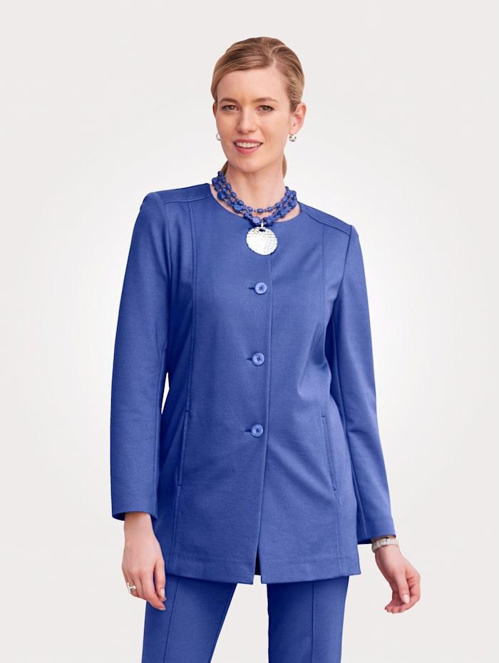 MONA Longblazer aus trageangenehmer Jersey-Qualität, Royalblau