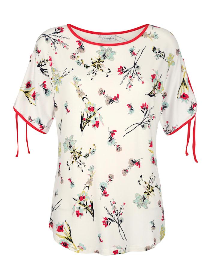 Tričko s hezkým květinovým potiskem