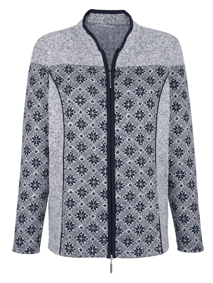 Harmony Freizeitjacke in weicher Fleece-Qualität, Marineblau/Ecru
