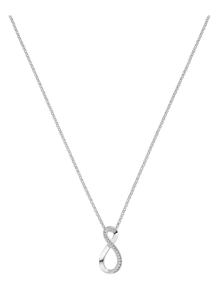 Jette JETTE Silver Damen-Kette 925er Silber 20 Zirkonia, silber