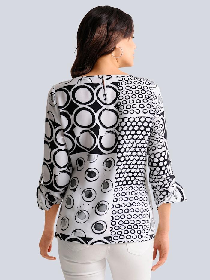 Bluse mit platziertem Print allover