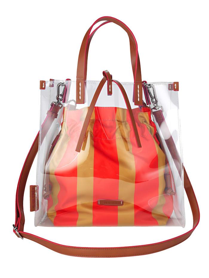 SURI FREY 2-piece handbag set made from a premium-quality fabric 2-piece, Cognac/Coral