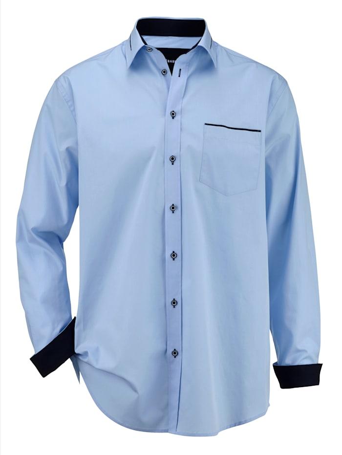BABISTA Overhemd met contrastkleurig beleg, Blauw