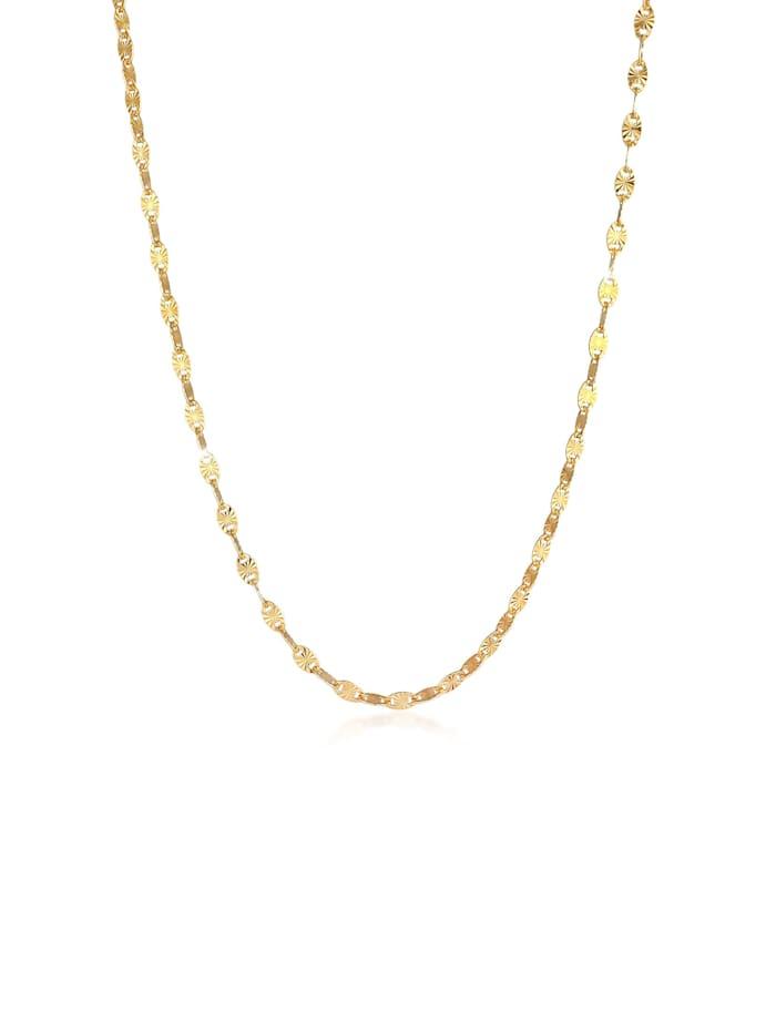 Elli Premium Halskette Stern Look Plättchen Design 925 Sterling Silber, Gold