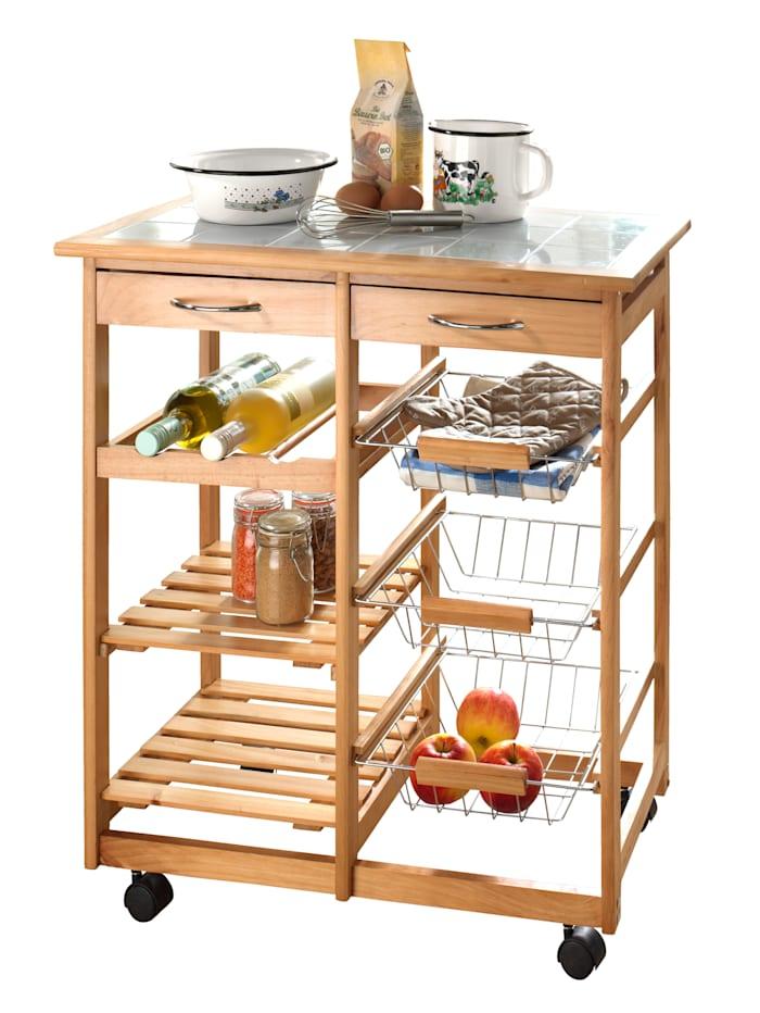 Casamaxx Küchenrollwagen Isabelle, Braun
