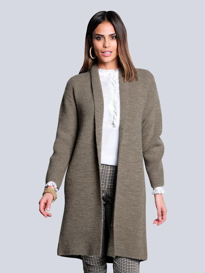 Alba Moda Vest van comfortabel, zacht materiaal, Taupe