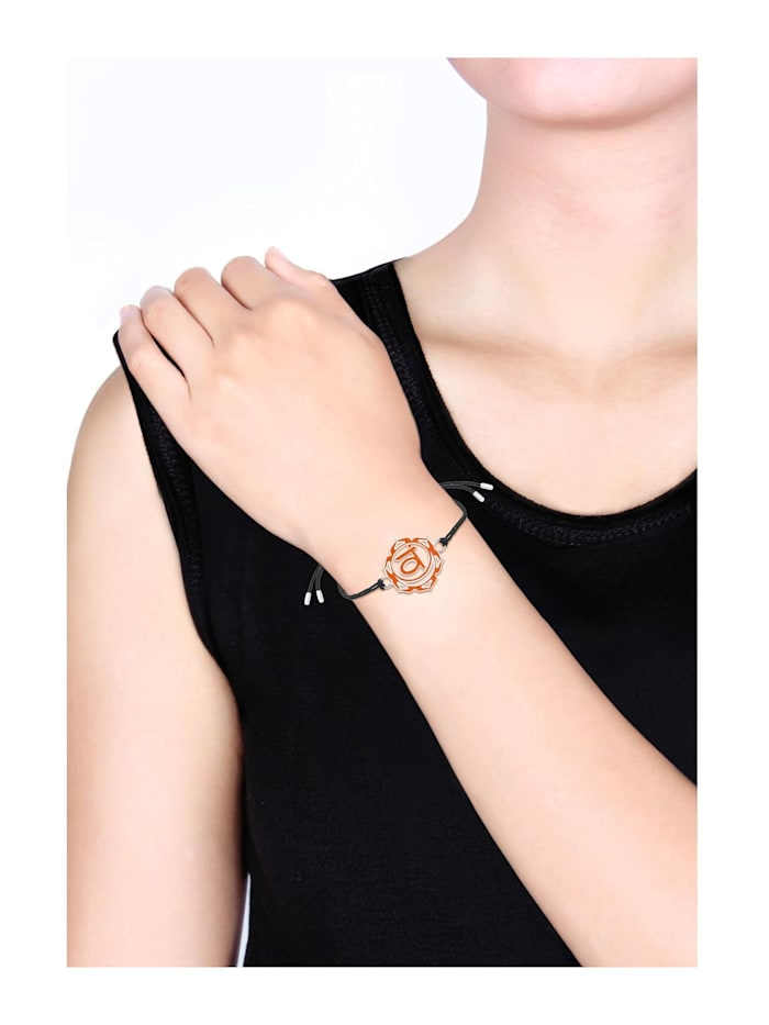 Armband Sakral Swadhistana Chakra Emaille 925Er Silber