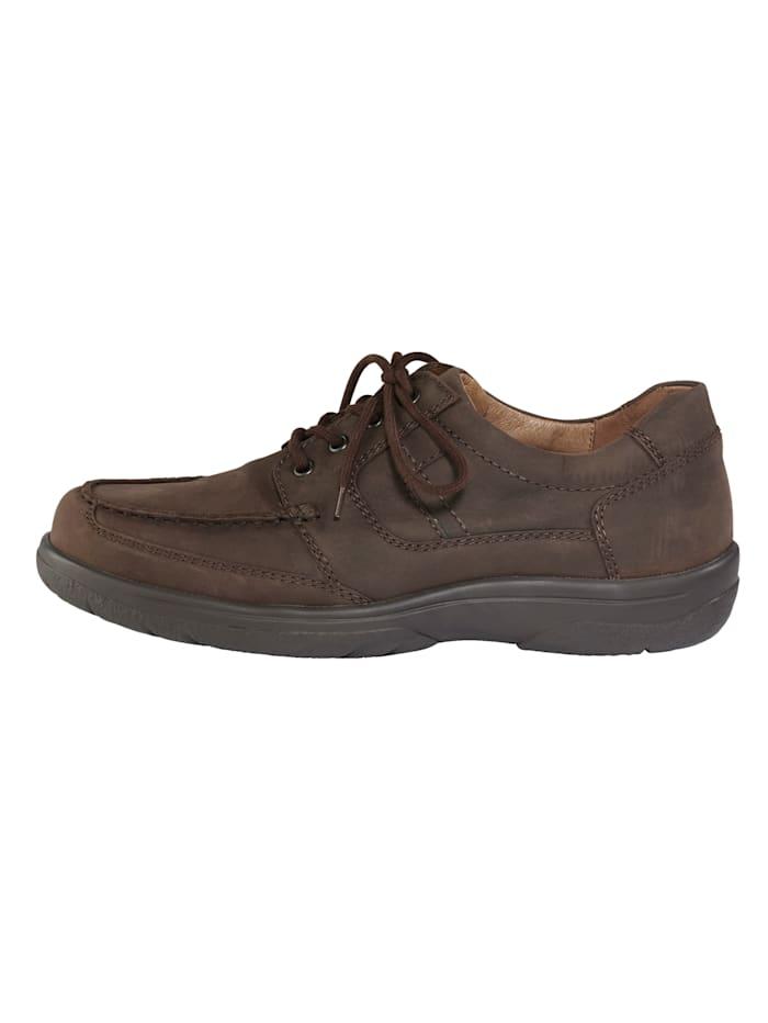 Šněrovací obuv s klasickými mokasínovými švy