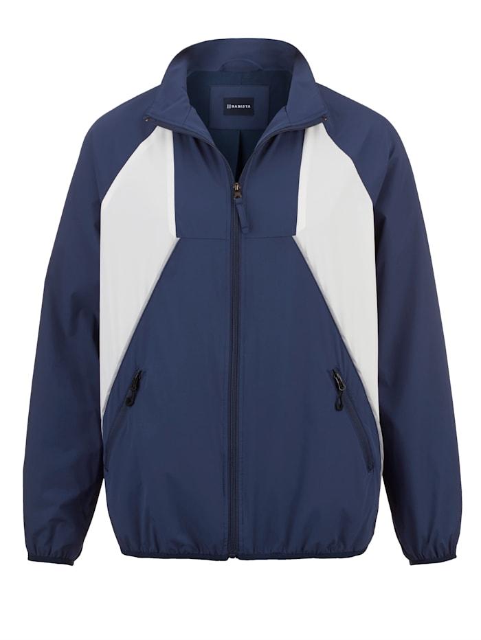 BABISTA Trainingsjack van licht materiaal, Blauw/Wit
