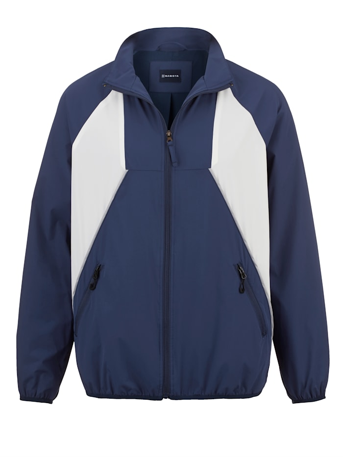 BABISTA Trainingsjacke in leichter Qualität, Blau/Weiß