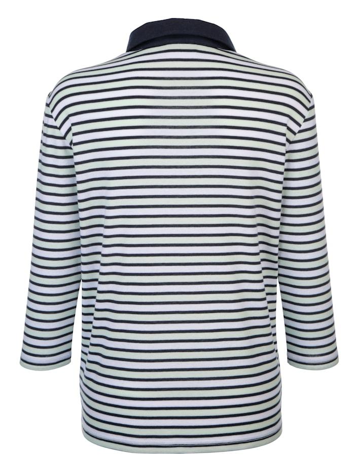 Shirt mit Streifenmuster rundum