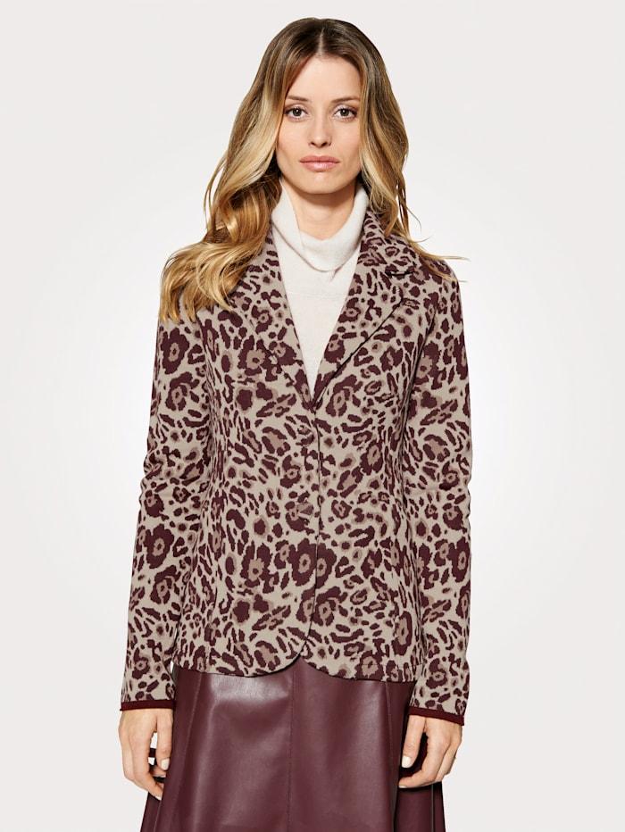 Artigiano Vest van jacquard met animaldessin, Multicolor