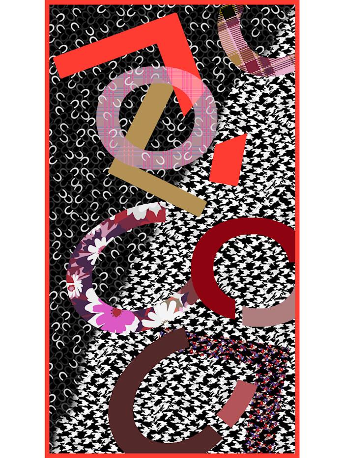 Logoschal im Multi-Mustermix aus Baumwolle und Modal
