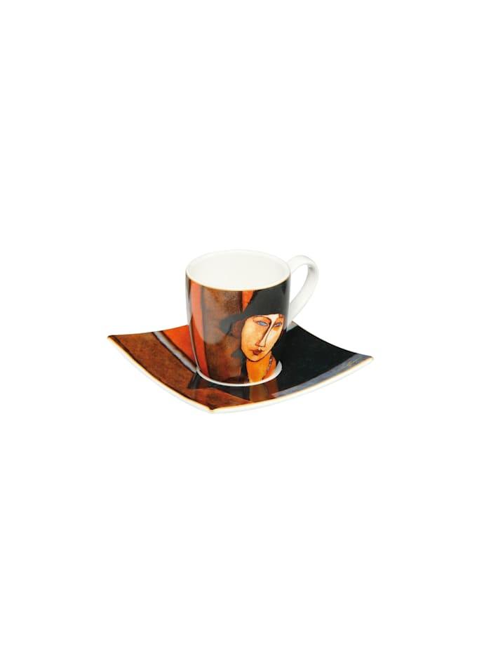 Goebel Goebel Espressotasse Amadeo Modigliani - Frau mit Hut, Modigliani - Frau mit Hut
