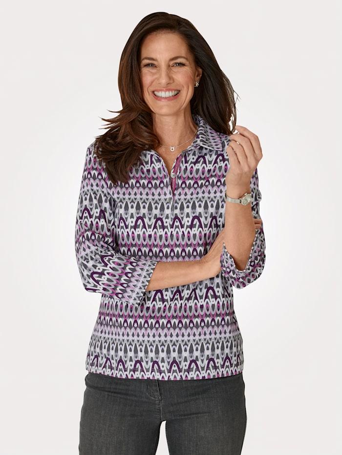Rabe Poloshirt aus reiner Baumwolle, Pink/Grau
