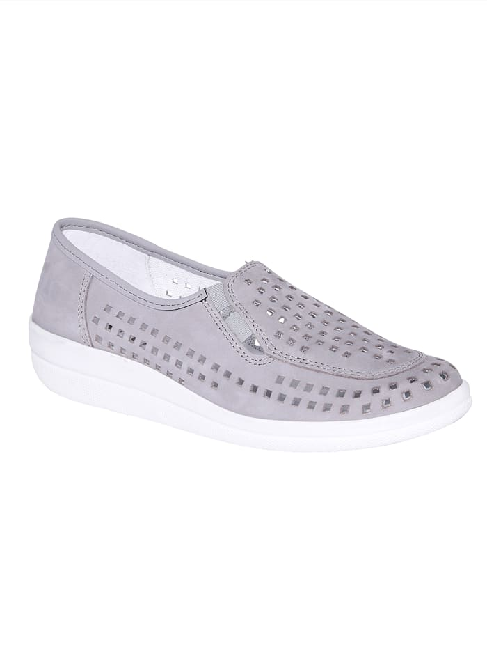 Slip-On shoes with summery, airy vents