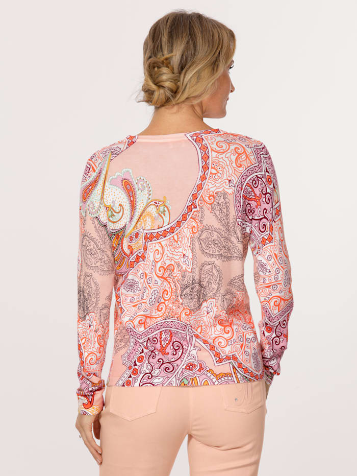 Cardigan with a paisley print