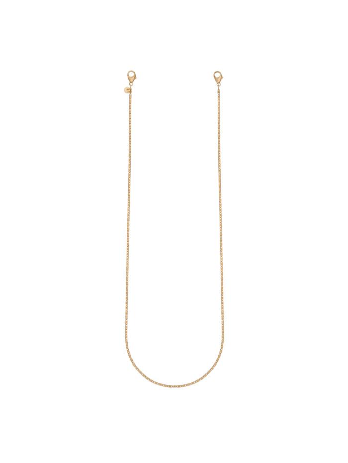 CAI Brillenkette Maskenkette 925/- Sterling Silber 70cm Diamantiert, gelb