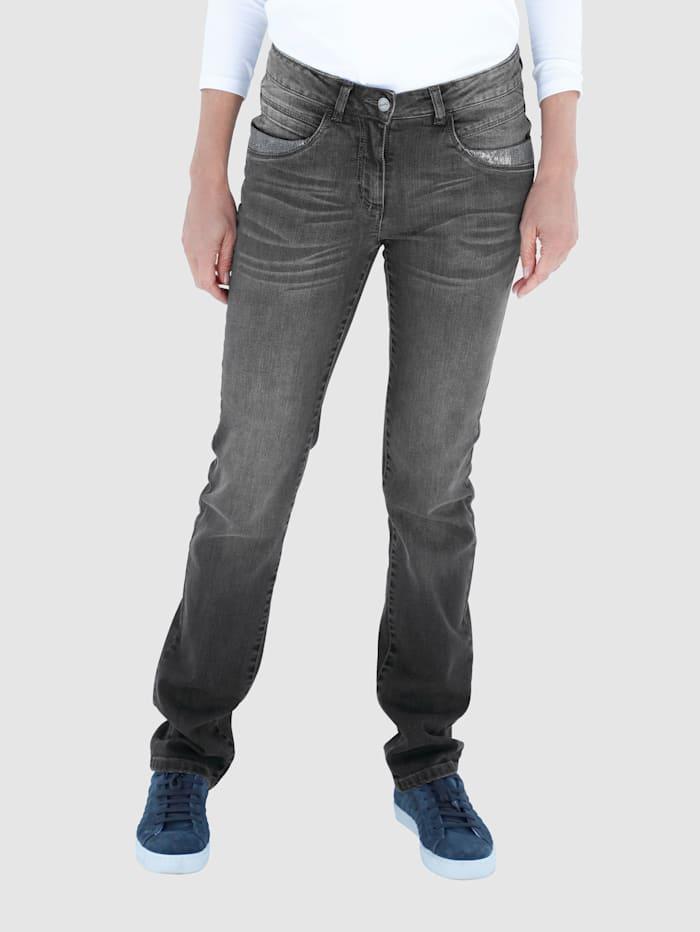 Dress In Jeans in Laura Straight model, Grey