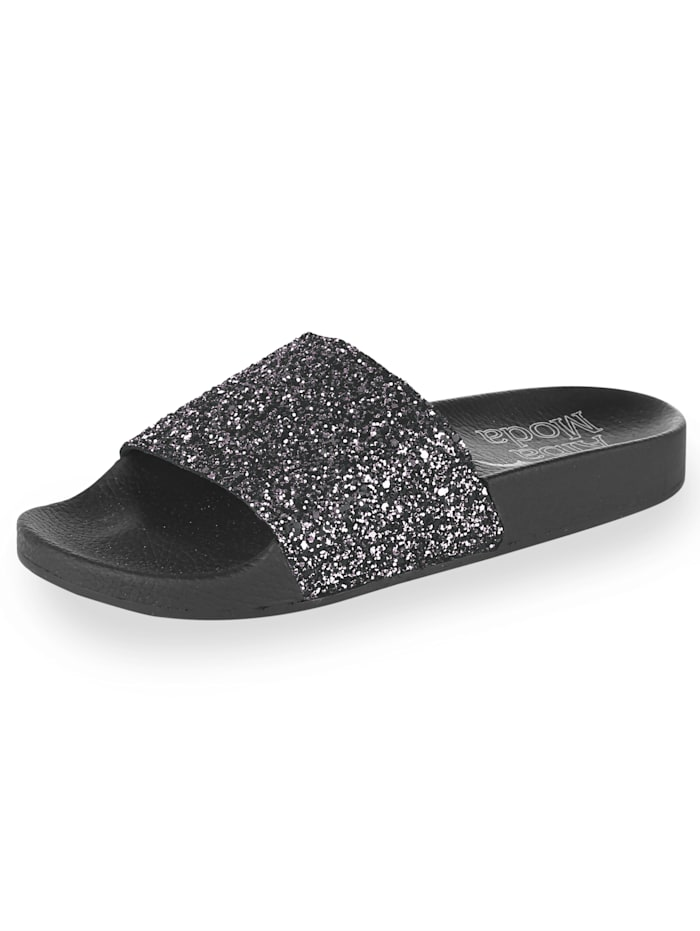 Mules with glitter