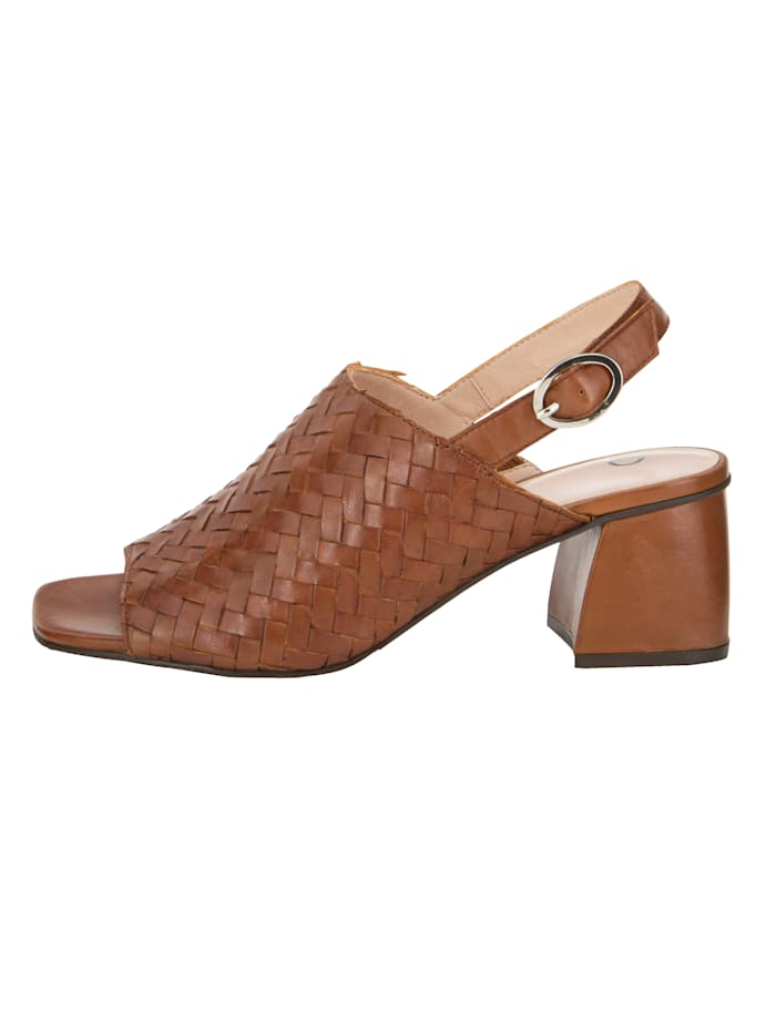 Sandals made from soft leather