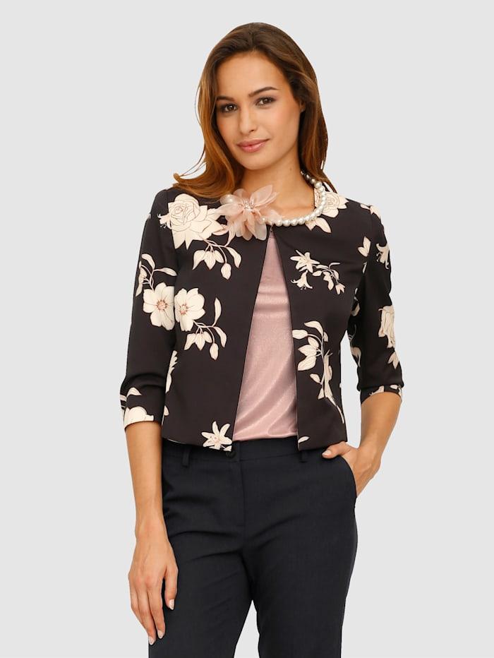 Veste à motif floral