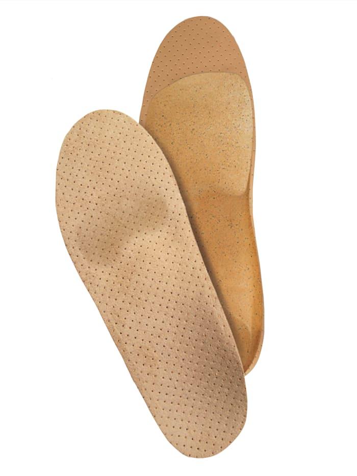 FußGut Orthopedische inlegzolen in anatomische vorm, Beige