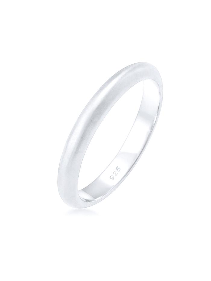 Elli Ring Basic Minimal Matt 925 Sterling Silber, Silber