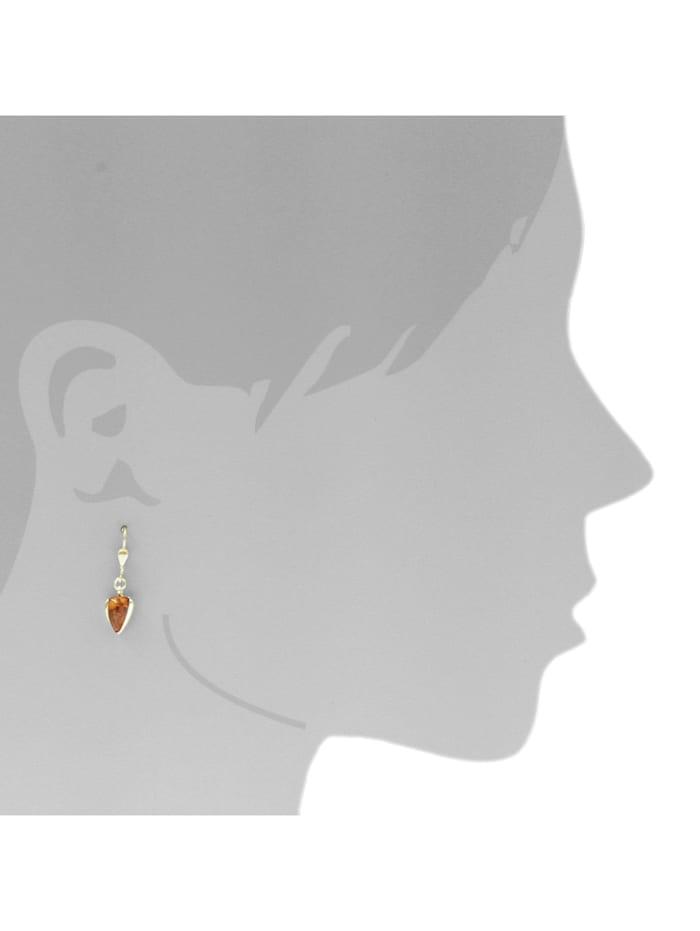 Ohrhänger - Lara - Silber 925/000, vergoldet - Bernstein
