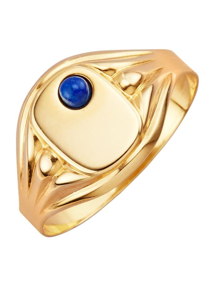 Herenring met lapis lazuli, Blauw