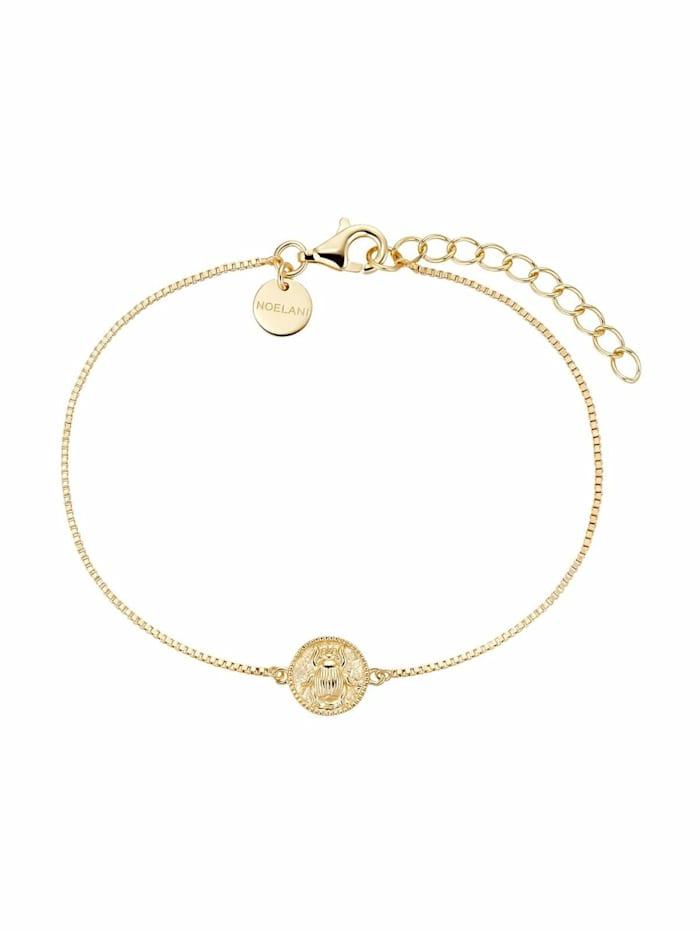 Armband für Damen, Sterling Silber 925 vergoldet, Käfer