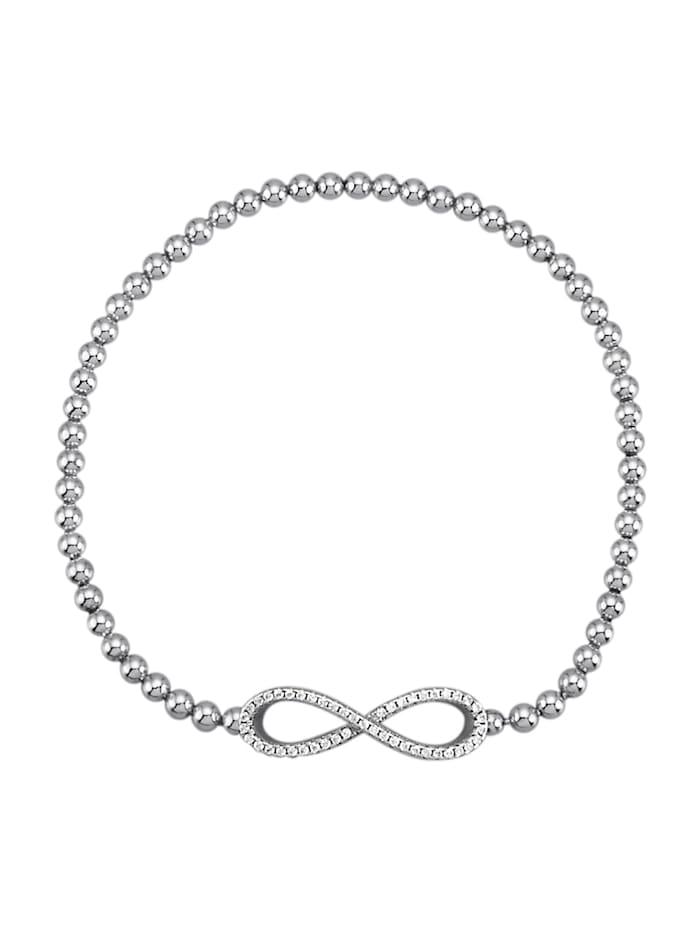 KLiNGEL Infinity- Armband, Silberfarben