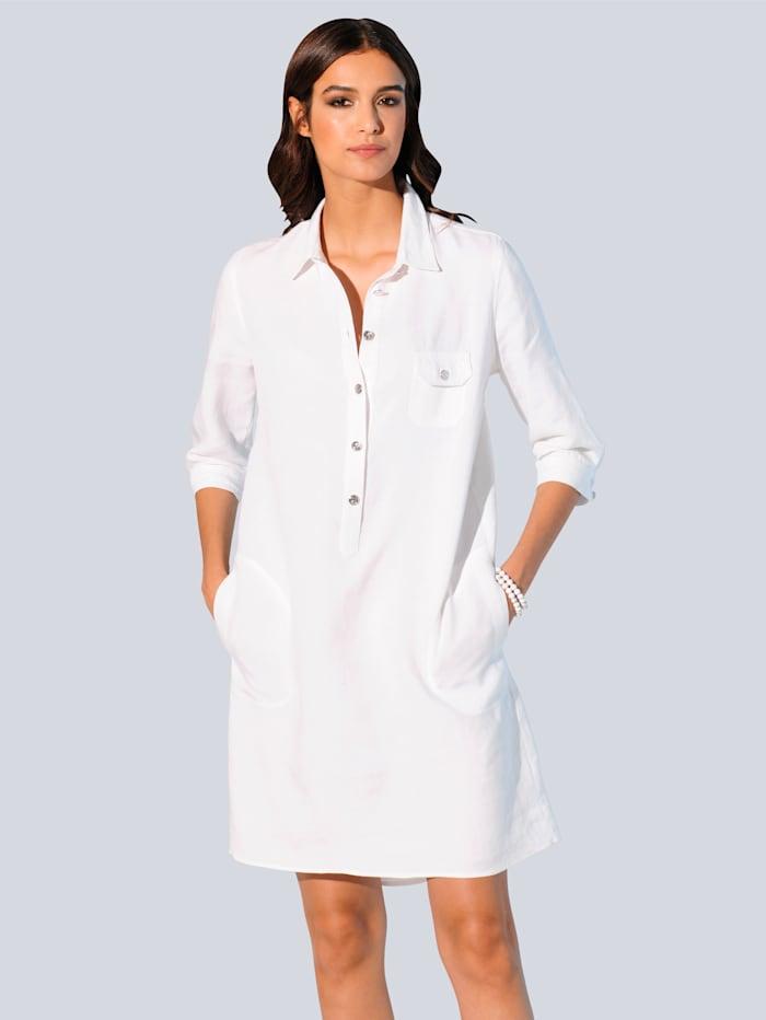 Alba Moda Šaty z hodnotnej ľanovej kvality, Biela