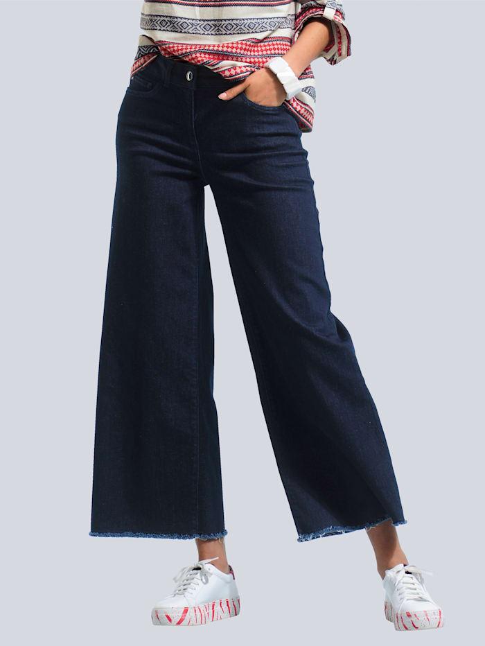 Alba Moda Jeans met wijde pijpen, Dark blue