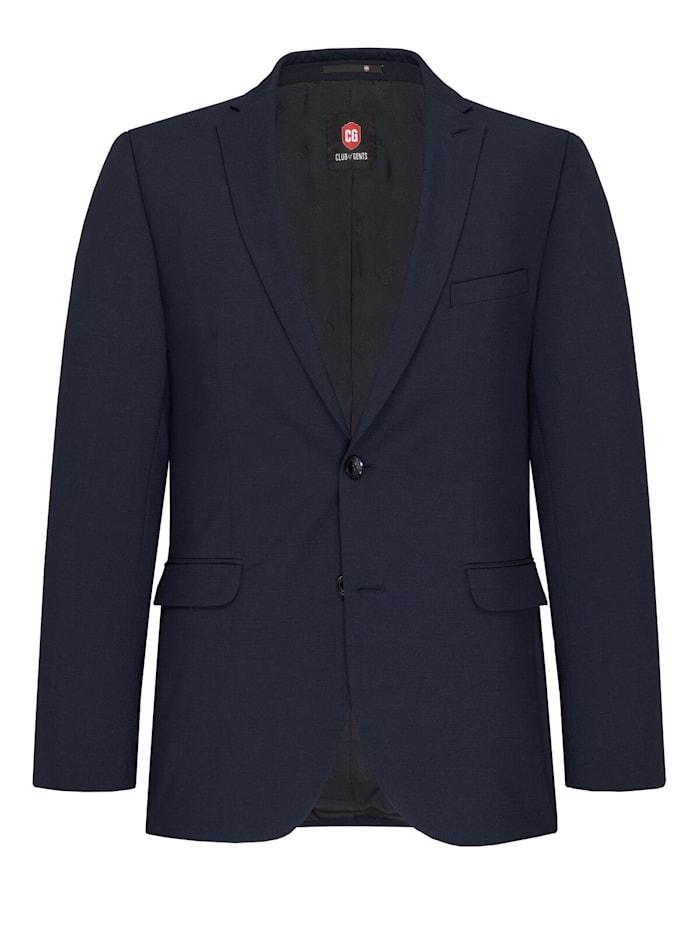 Club of Gents Anzug-Sakko CG Caden mit längerer Rückenlänge, Dunkelblau